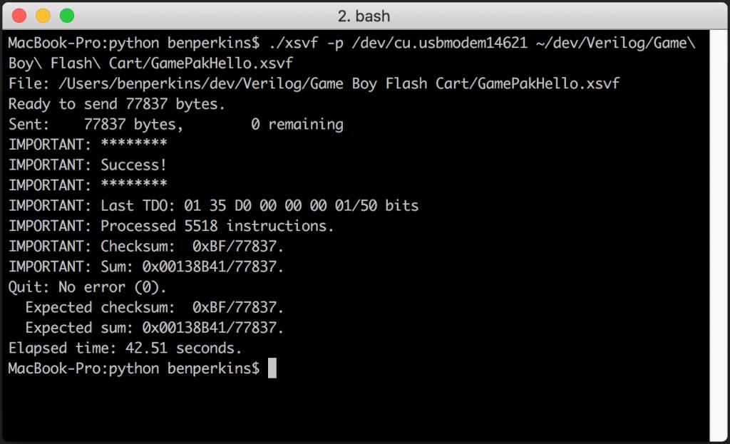 Using Arduino JTAG Player to program XC9572XL